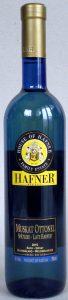 Hafner: Muscat Ottonel in blauer Flasche, Jahrgang 2015